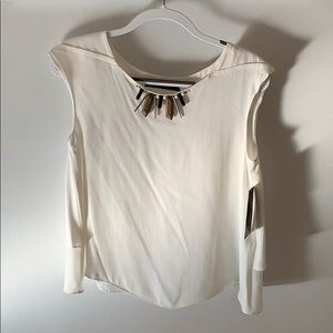 Zara white blouse medium
